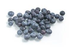 Fresh wet Blueberries. On white background Royalty Free Stock Photo