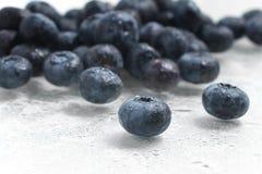 Fresh wet Blueberries. On white background Stock Images