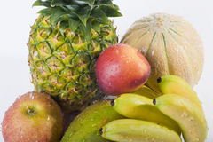 Fresh wet fruits closeup Royalty Free Stock Photography