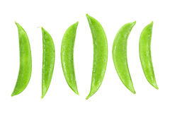 fresh wet green peas isolated on white Royalty Free Stock Image