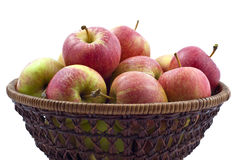 Fresh Wet Red Apples In Basket Royalty Free Stock Photo