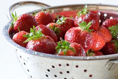 Fresh Wet Strawberries Royalty Free Stock Photography