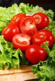 Fresh and wet tomatoes Royalty Free Stock Photo