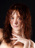 Fresh and wet young woman. Portrait Royalty Free Stock Photos