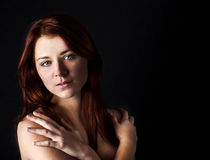 Fresh and wet young woman. Portrait Stock Photography