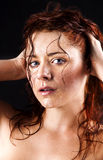 Fresh and wet young woman Stock Photos