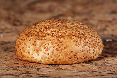 Fresh wheat bread. On a table Stock Images