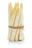 Fresh white asparagus bunch vegetable isolated Stock Image
