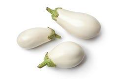 Fresh white aubergines Royalty Free Stock Photo