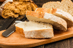 Fresh white bread Royalty Free Stock Images