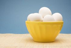 Fresh White Eggs Stock Photo