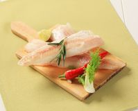 Fresh white fish fillets Royalty Free Stock Photos