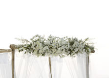 Fresh white flowers as wedding decoration Stock Photography