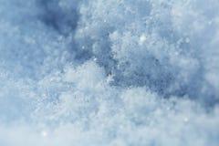 Fresh white snow, macro shot royalty free stock photo