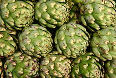 Fresh Whole Artichokes Stock Images