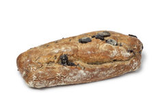 Fresh whole black olive bread Royalty Free Stock Photo