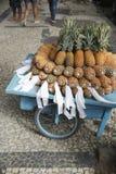 Fresh Whole Brazilian Pineapple Street Cart Rio de Janeiro Royalty Free Stock Photo