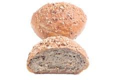 Fresh Whole Grain Bread Cut In Half Stock Photo