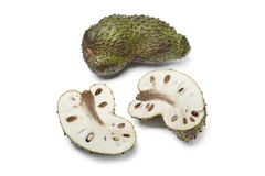 Fresh whole and half soursop fruit Stock Photography