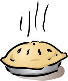 Fresh whole pie Royalty Free Stock Photos