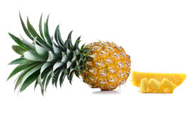 Fresh whole pineapple Royalty Free Stock Photos