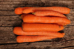 Fresh whole raw carrots Royalty Free Stock Photos