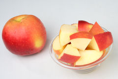 Fresh Whole Red Apple Royalty Free Stock Image