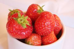 Fresh whole strawberries Stock Photography
