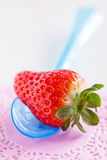 Fresh whole strawberry and spoon Royalty Free Stock Photo