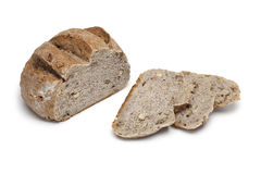 Fresh whole wheat nut bread with slices Stock Photo