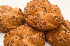 Fresh wholemeal buns Stock Photography