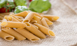 Fresh wholemeal Penne Royalty Free Stock Images