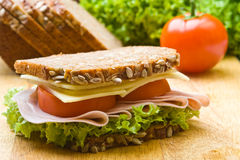 Fresh wholemeal sandwich Stock Photography