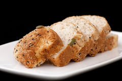 Fresh wholewheat bread Stock Image