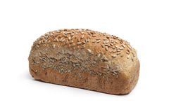 Fresh wholewheat bread with sunflower seeds Royalty Free Stock Images