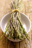 Fresh wild asparagus Stock Photo