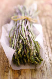 Fresh wild asparagus Stock Photos