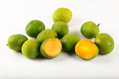 Fresh wild mangoes. S on a white  background Royalty Free Stock Photography