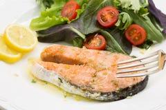 Fresh wild salmon fillet roasted Stock Photos