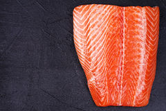 Fresh Wild Salmon Stock Photo