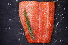 Fresh Wild Salmon Royalty Free Stock Images