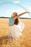 Fresh wind and big rainbow Royalty Free Stock Images