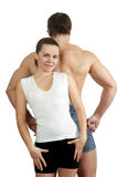 Fresh Woman And Man Back Stock Photography