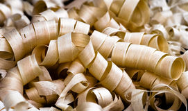 Fresh Wood Shavings Stock Images