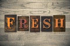 Fresh Wooden Letterpress Theme Royalty Free Stock Photography