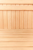 Fresh wooden planks on wall and floor Stock Images