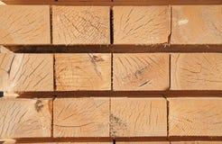 Fresh wooden studs Stock Photos