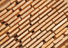 Fresh wooden studs Royalty Free Stock Images