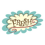 Fresh Word Text Icon Flower Burst Royalty Free Stock Photo