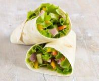Fresh wrap sandwiches Stock Photos